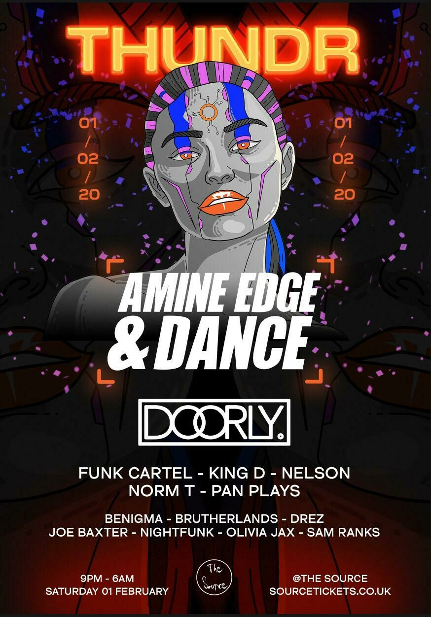 Saturday 1st February 2020 - THUNDR launch w/ Amine Edge & Dance, Doorly, Funk Cartel & more!