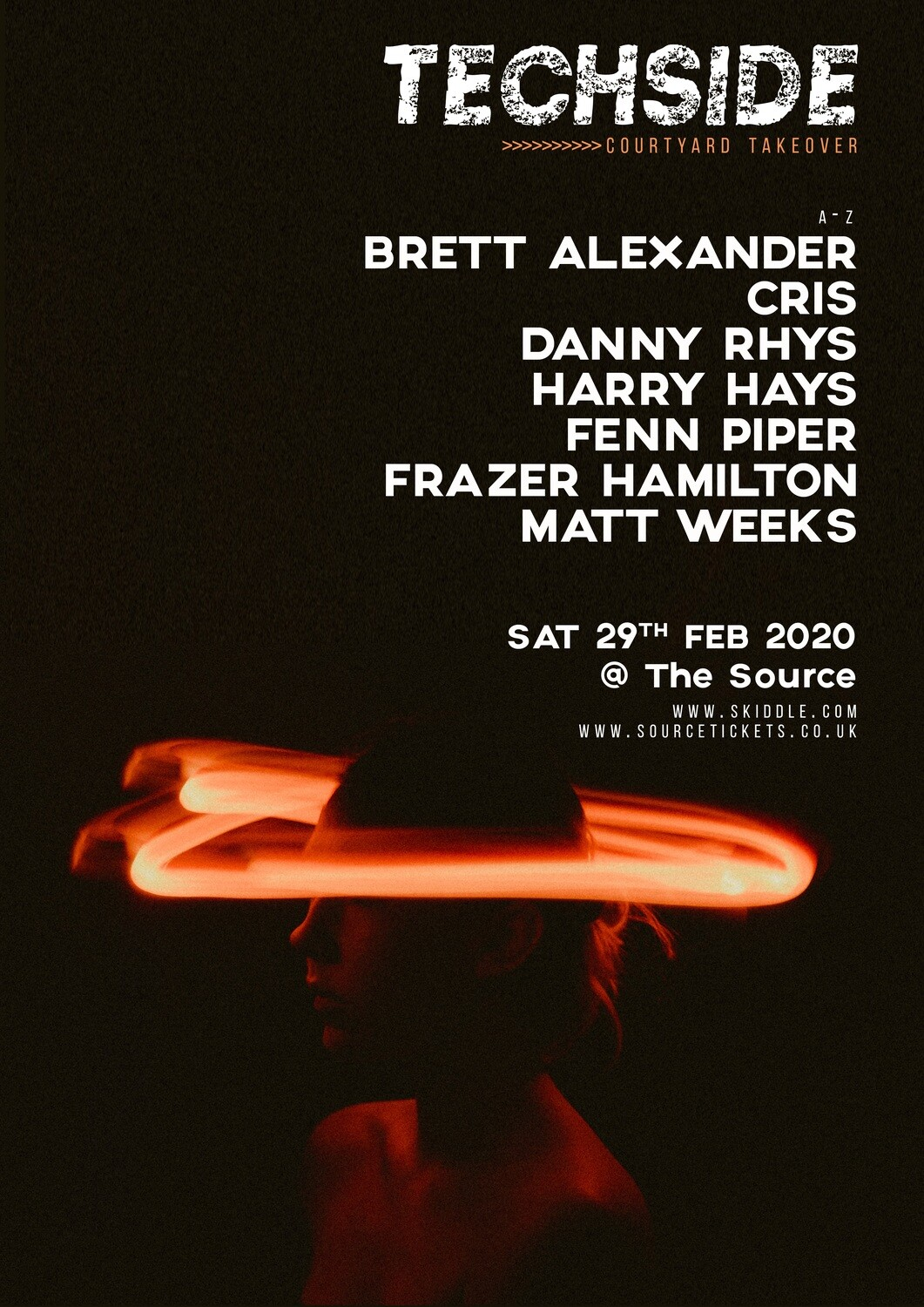 Saturday 29th February 2020 - Techside Courtyard takeover - FREE GUESTLIST