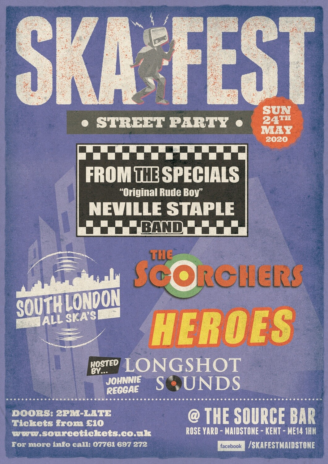 Sunday 24th May 2020 - SKA Fest w/ Neville Staple Band, The Scorchers & more!