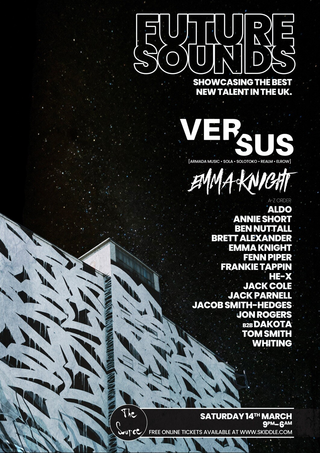 Saturday 14th March 2020 - Future Sounds FREE PARTY