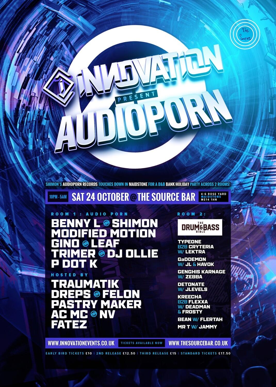 Saturday 24th October 2020 - Innovation presents Audioporn