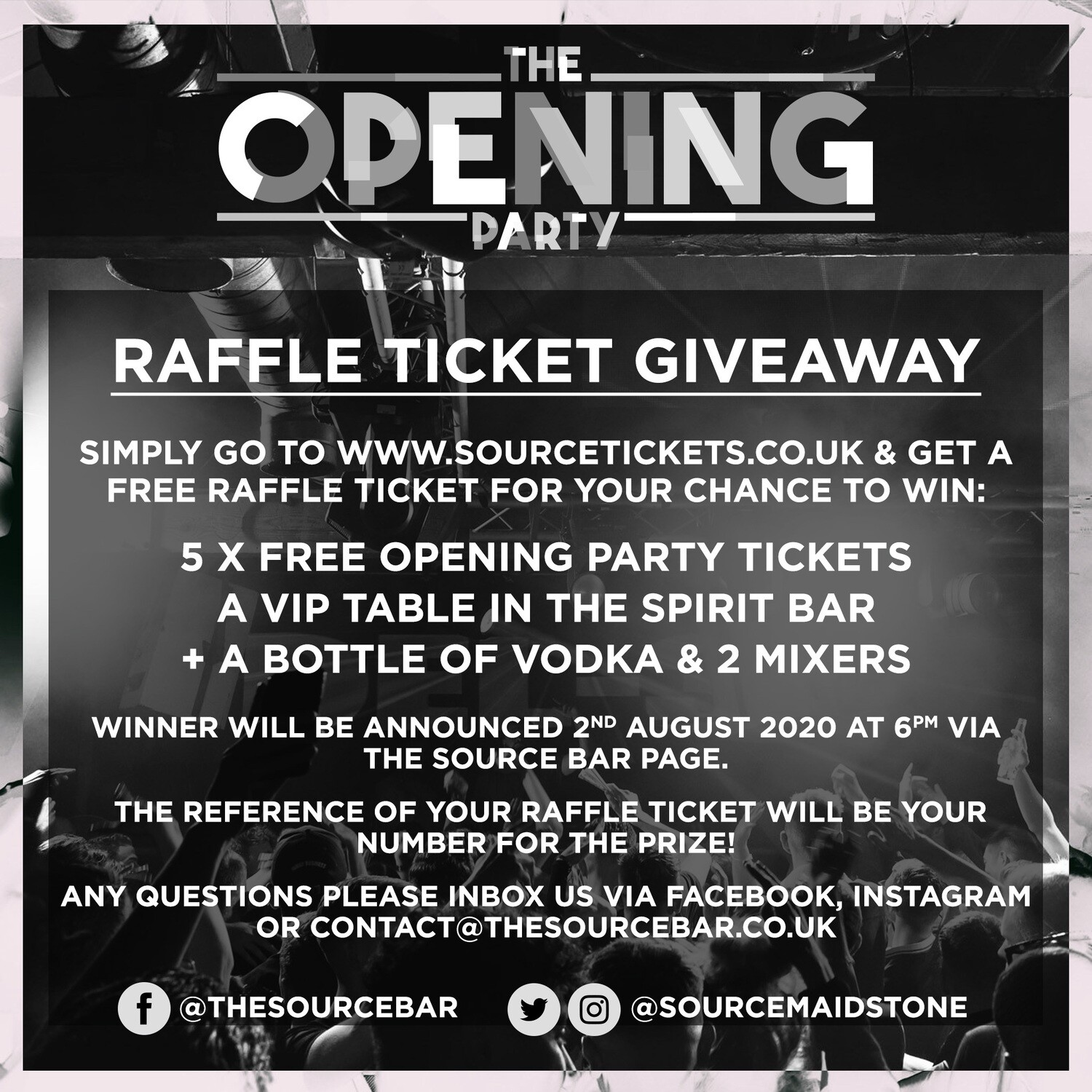 Date TBC - Source Opening Party Raffle ticket