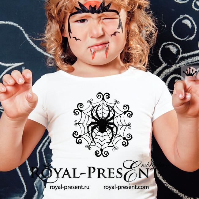 Halloween Spider Web Machine Embroidery Design 3 Sizes Royal Present Embroidery Machine Embroidery Designs Online