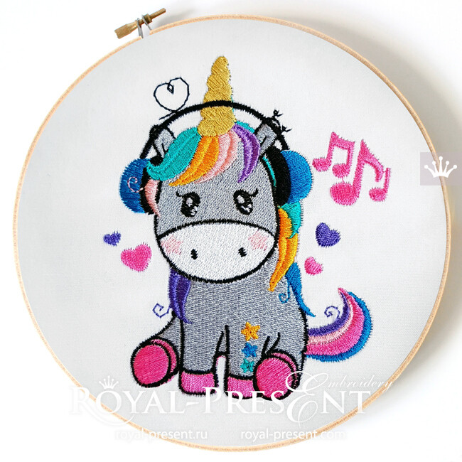 Unicorn Is Listening To Music Machine Embroidery Design,Who Designed The Empire State Building