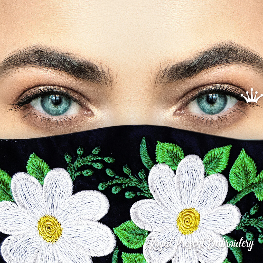 In The Hoop Fashionable Face Mask Free Machine Embroidery Design