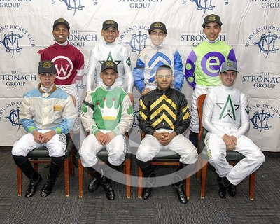 Official 2018 Preakness Jockeys Photo
