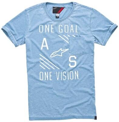 T-shirt Alpinestars Burnout celeste