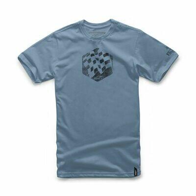T-shirt Alpinestars Flag Celeste