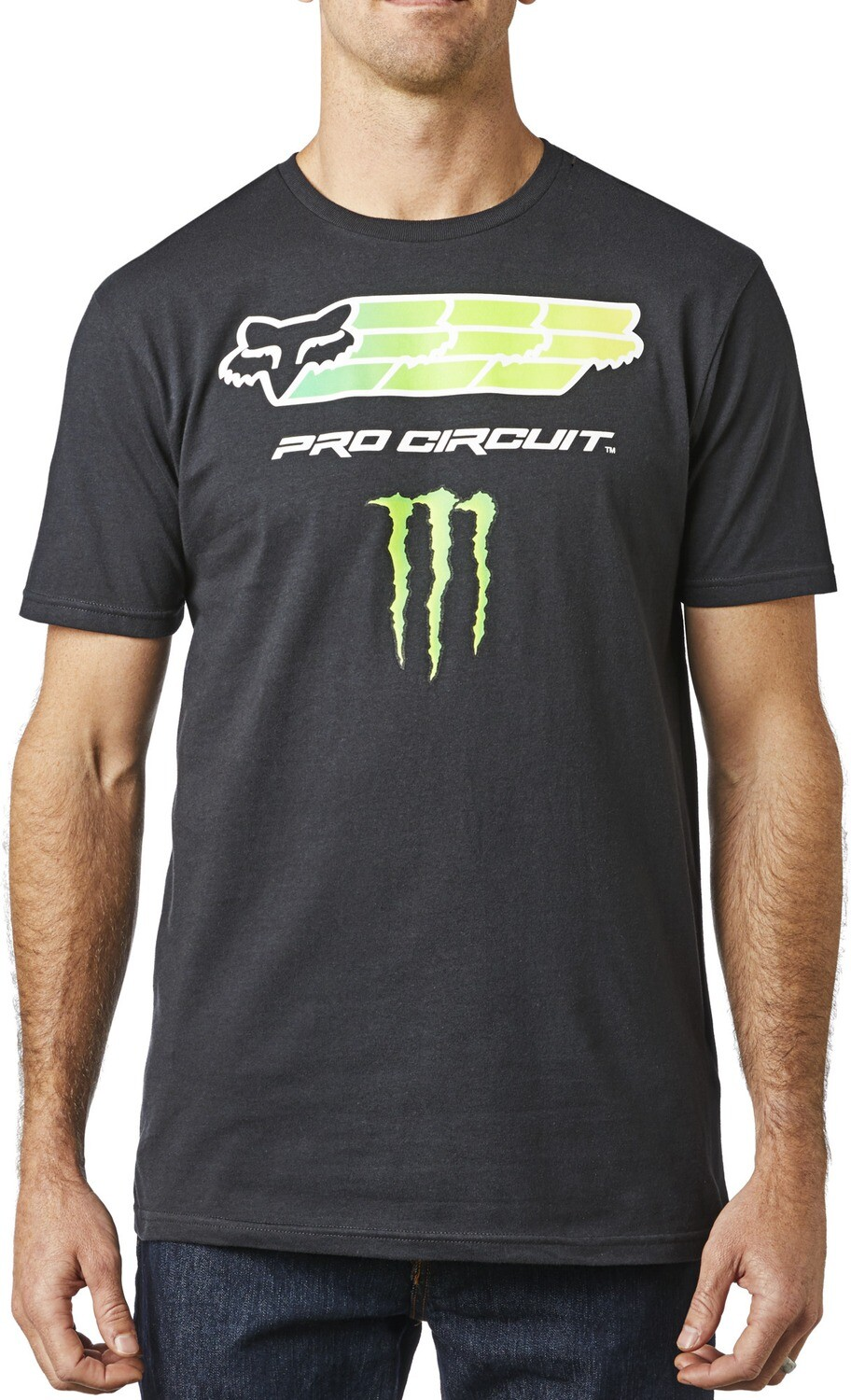 TSHIRT FOX MONSTER PC BLK