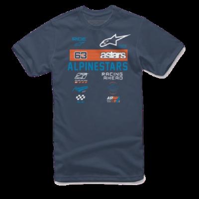 T-Shirt Alpinestars Sponsored Azul