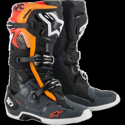 Botas Alpinestars Tech 10 negras/anaranjado flo