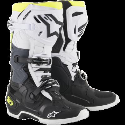 Botas Alpinestars Tech 10 Blancas/ amarillo flo
