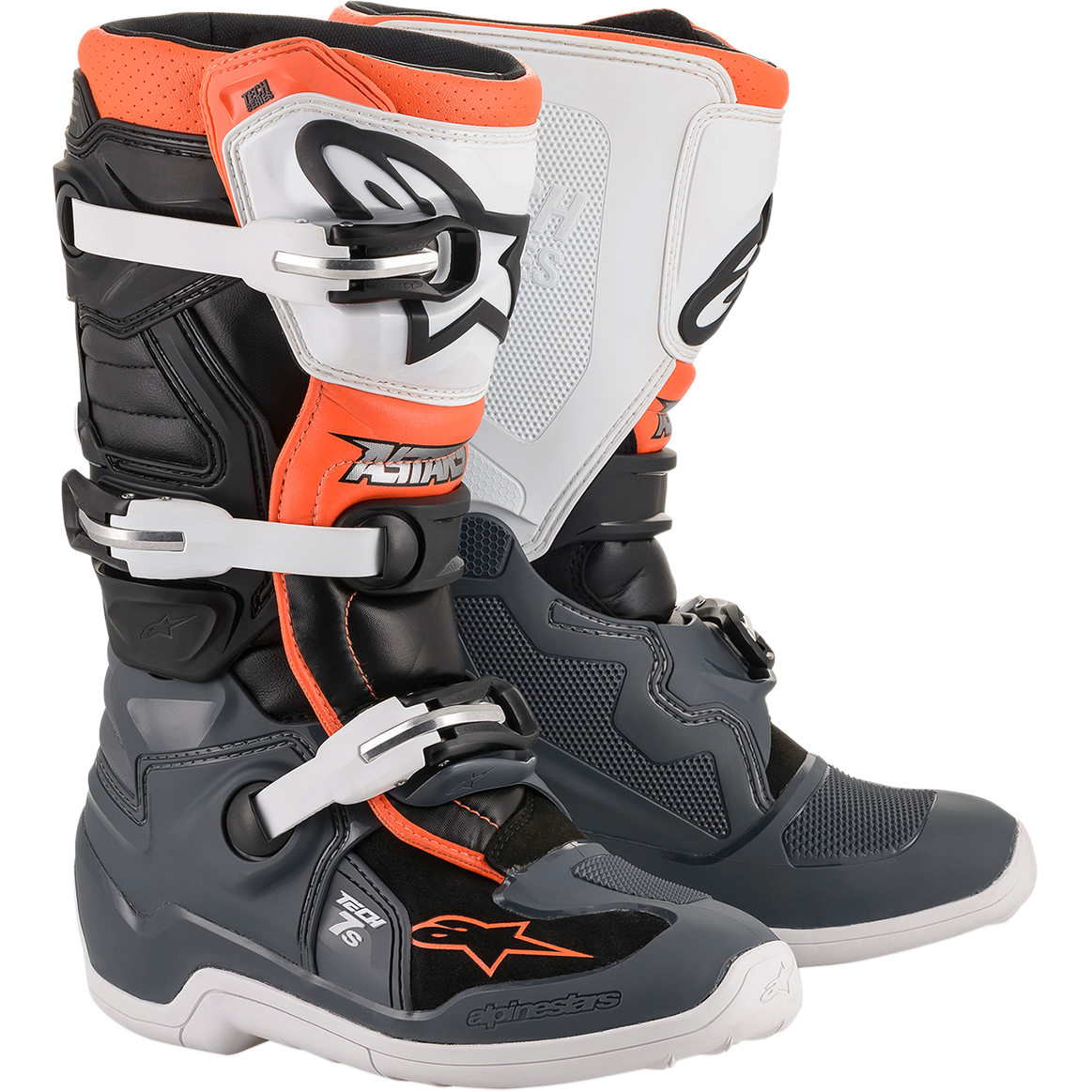 Botas Alpinestars Tech 7S Junior Gris/ Anaranjado