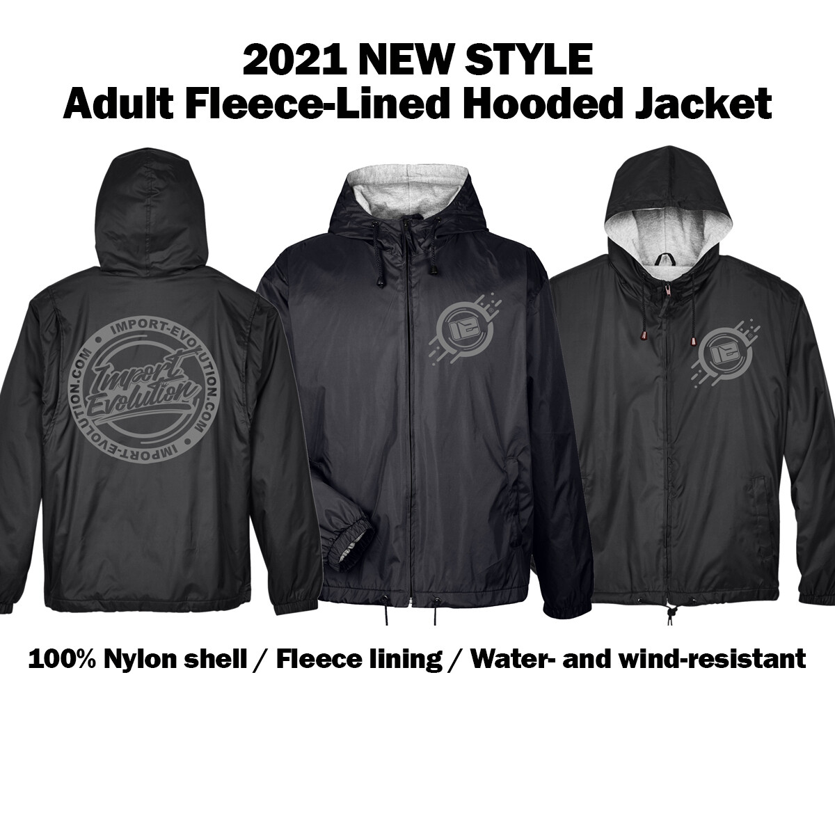 2021 New Style Adult 100% Polyester-Fleece-Lined Full-Zip Hood REFLECTIVE LOGO (Grey Only)
