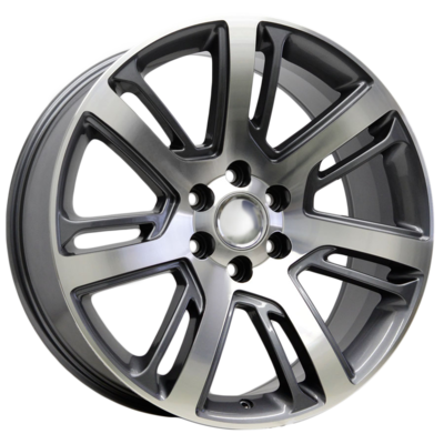 22x9 Escalade Twisted Layer Style Replica, Gunmetal with Machined Face