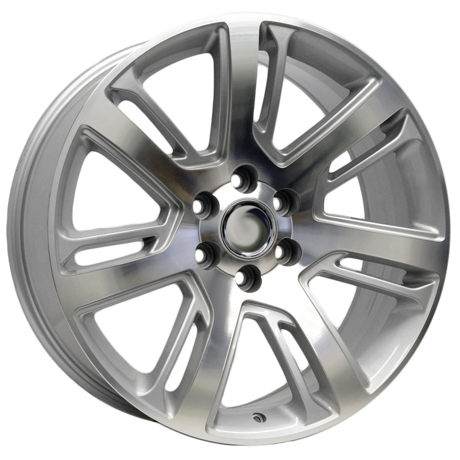 22x9 Escalade Twisted Layer Style Replica, Silver with Machined Face