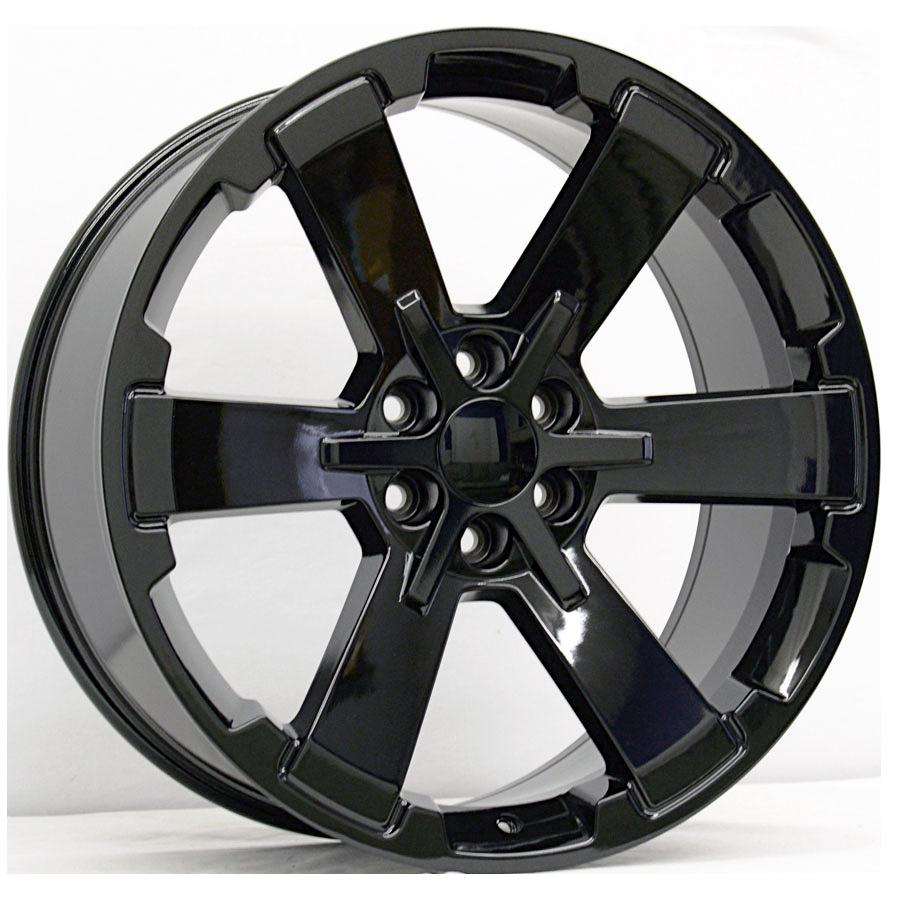 22x9 Midnight Rally Style Replica, Gloss Black