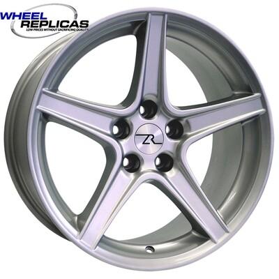 18x9 Silver Saleen Style Replica Wheel