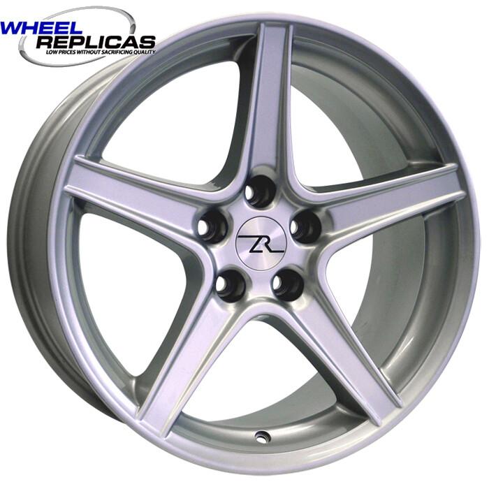 18x10 Silver Saleen Style Replica Wheel
