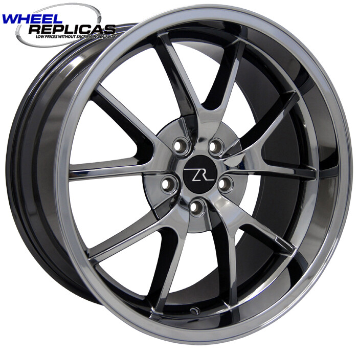 18x10 Black Chrome FR500 Style Replica Wheel