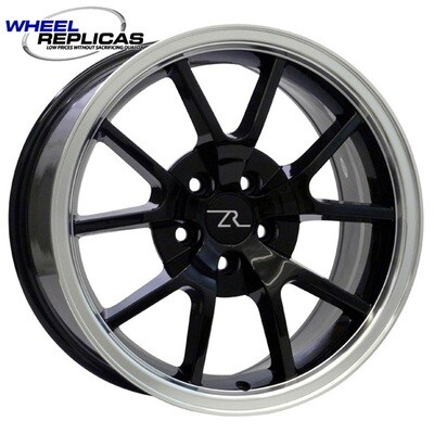 18x9 Black  w/Mirror Lip FR500 Style Replica Wheel