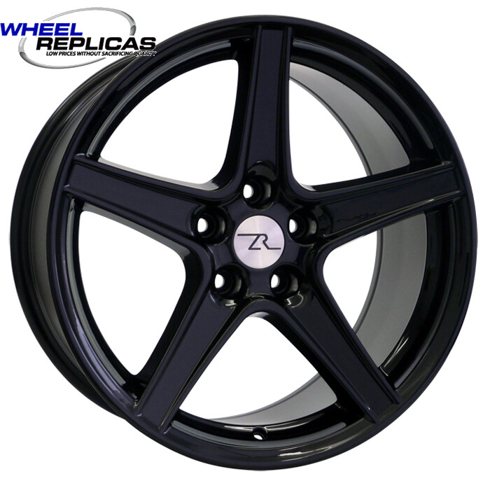 18x9 Gloss Black Saleen Style Replica Wheel