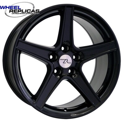 18x9 Gloss Black Saleen Style Replica Wheel