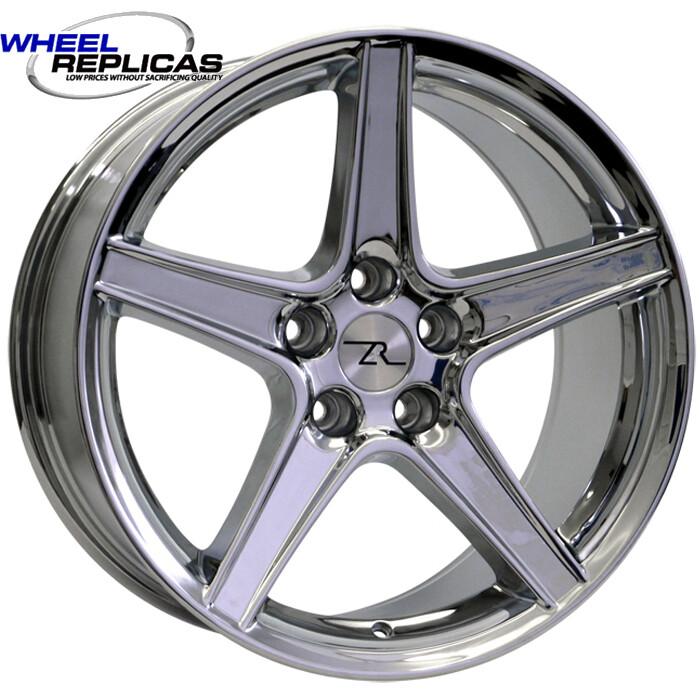 18x10 Chrome Saleen Style Replica Wheel