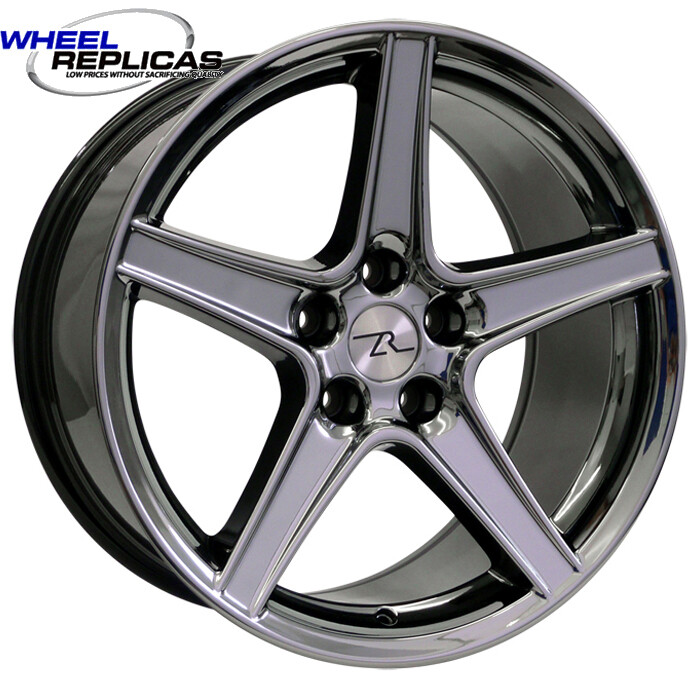 18x9 Black Chrome Saleen Style Replica Wheel