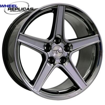 18x9 Black Chrome Saleen Style Replica Wheel
