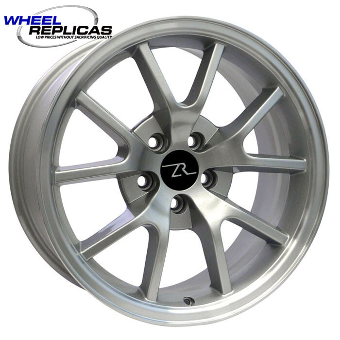 18x9 Silver w/Mirror Lip FR500 Style Replica Wheel