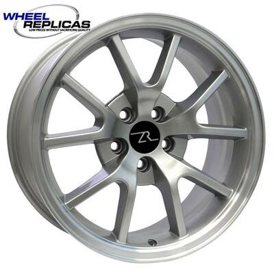 18x9 Silver w/Mirror Lip FR500 Style Replica Wheel
