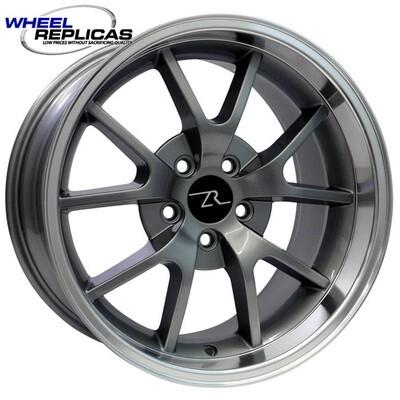 18x10 Anthracite w/Mirror Lip FR500 Style Replica Wheel