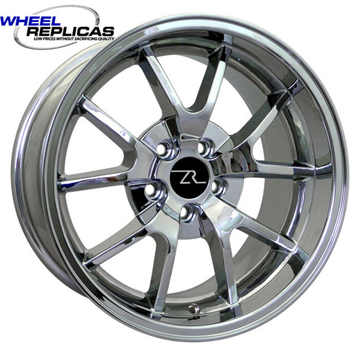 18x10 Chrome FR500 Style Replica Wheel