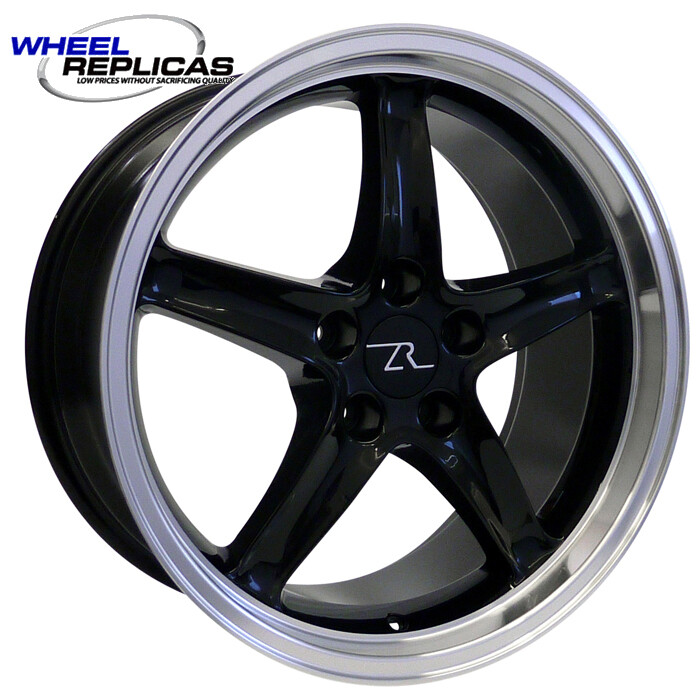 18x9 Black Cobra R Deep Dish Style Replica Wheel