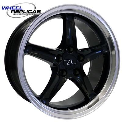 18x9 Black Cobra R Deep Dish Style Replica Wheel