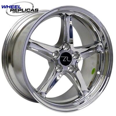 18x9 Chrome Cobra R Deep Dish Style Replica Wheel