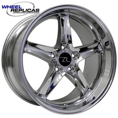 18x10 Chrome Cobra R Deep Dish Style Replica Wheel