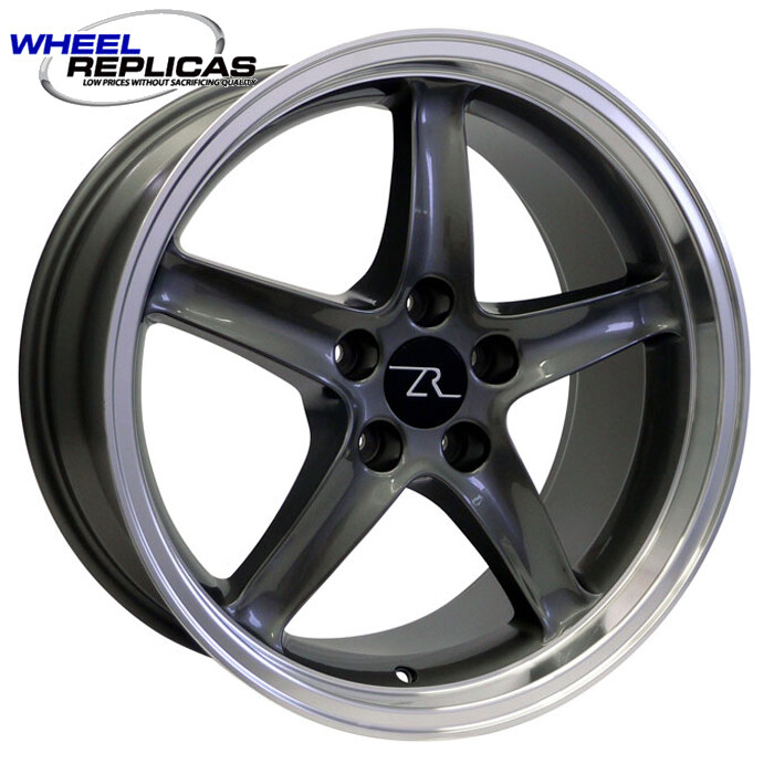 18x9 Gun Metal Cobra R Deep Dish Style Replica Wheel