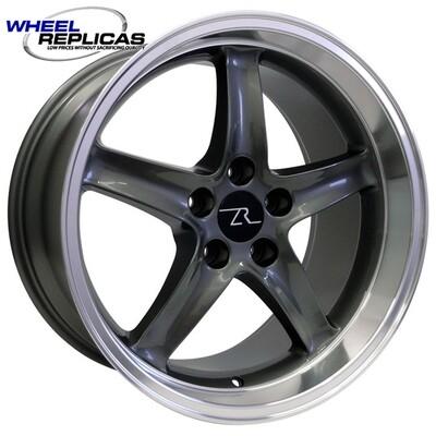 18x10 Gun Metal Cobra R Deep Dish Style Replica Wheel