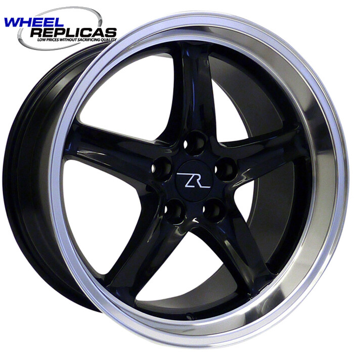 18x10 Gloss Black Cobra R Deep Dish Style Replica Wheel