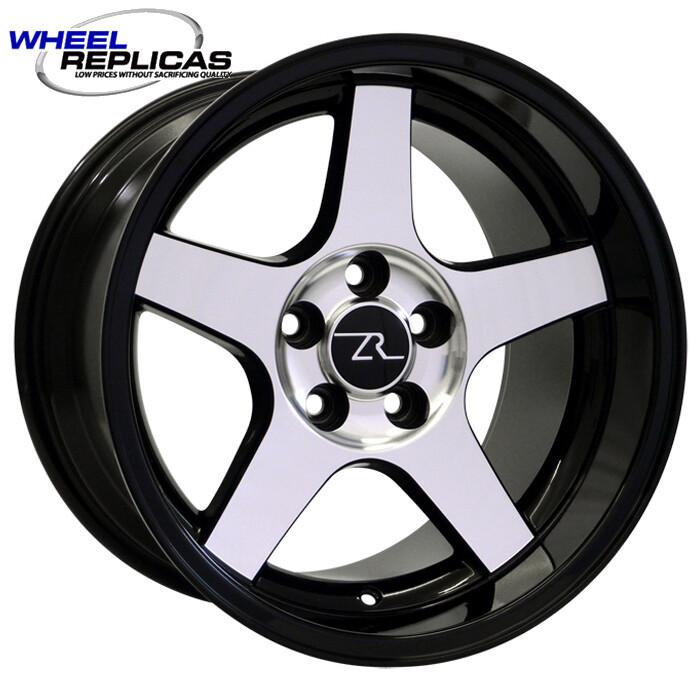 17x10.5 Gloss Black w/Mirror Face 03 Dish Style Wheel