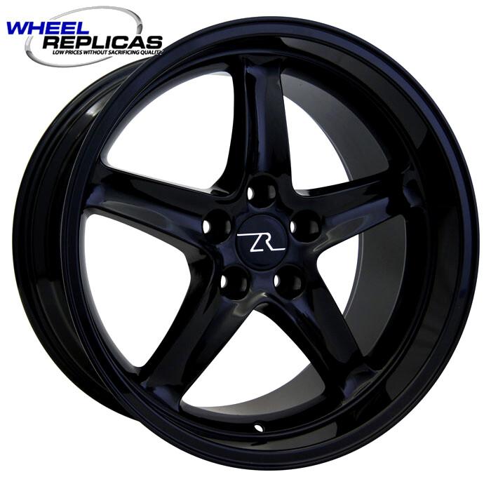 18x10 Full Gloss Black Cobra R Deep Dish Style Replica Wheel