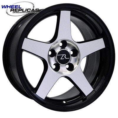 17x9 Gloss Black w/Mirror Face 03 Dish Style Wheel