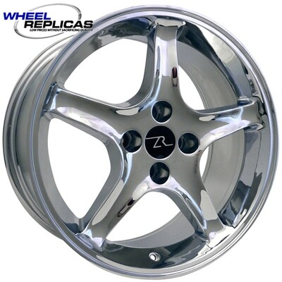 17x8 Chrome Cobra R Style Wheel