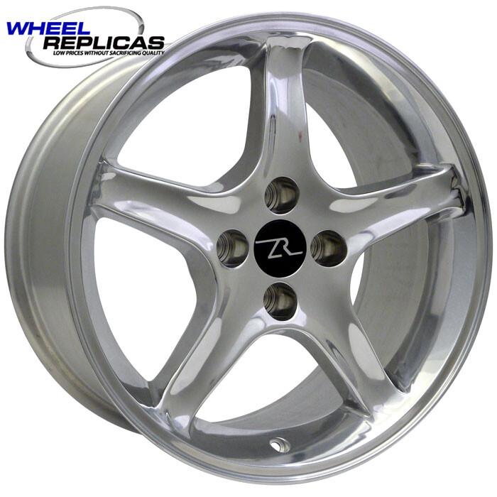 17x9 Polished Cobra R Style Wheel