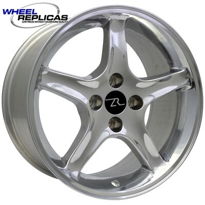 17x9 Polished Cobra R Style Wheel
