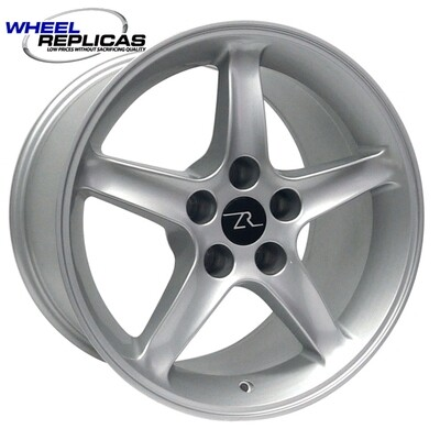 17x9 Silver Cobra R Style Wheel