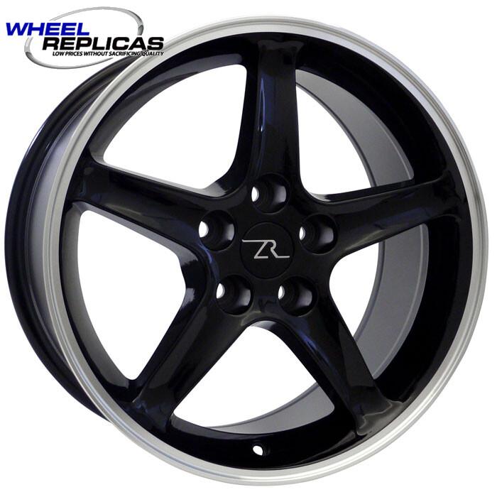 17x10.5 Black Cobra R Style Wheel