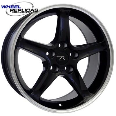 17x9 Black Cobra R Style Wheel